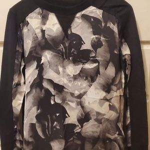 MASSIMO SWEATER CLASSY LONG SLEEVE BLACK AND WHITE